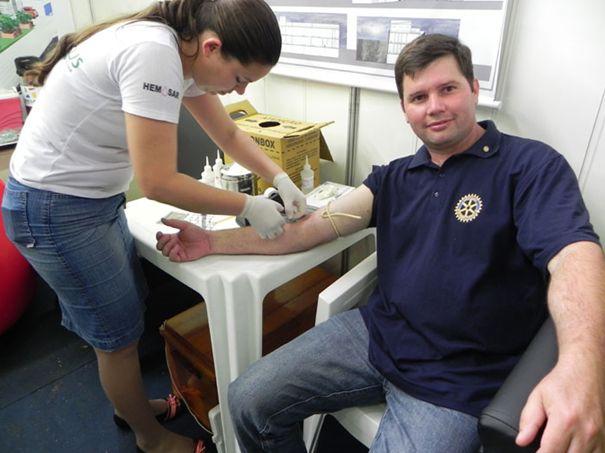 Arcanjo Schossler, Presidente do Rotary Cruzeiro.